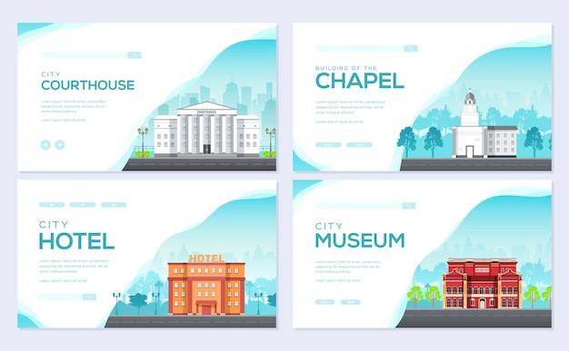 Modèle d'architecture de flyear, magazines, affiche, couverture de livre. contexte infographique de construction.