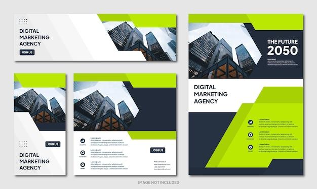 Modèle d'arrière-plan de conception de brochure d'entreprise créative moderne et bannière de publication de médias sociaux instagram