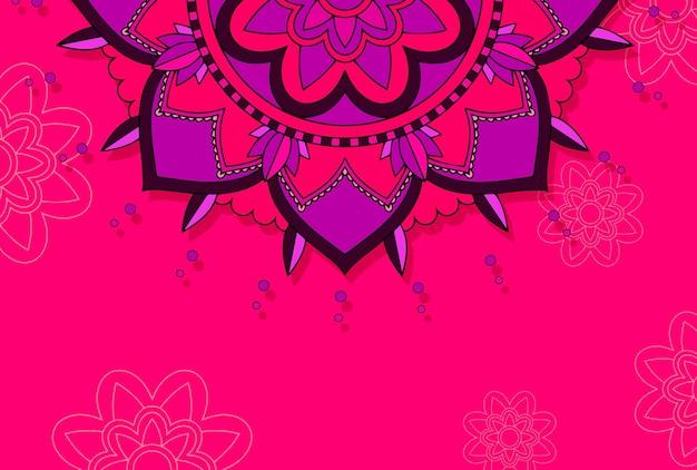 Modèle d'arrière-plan avec des motifs de mandala