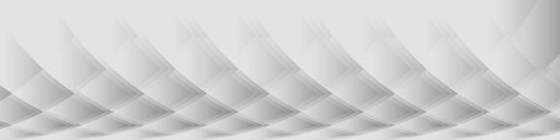 Modèle d'arrière-plan de présentation de bannière large de conception graphique de motif abstrait gris doux
