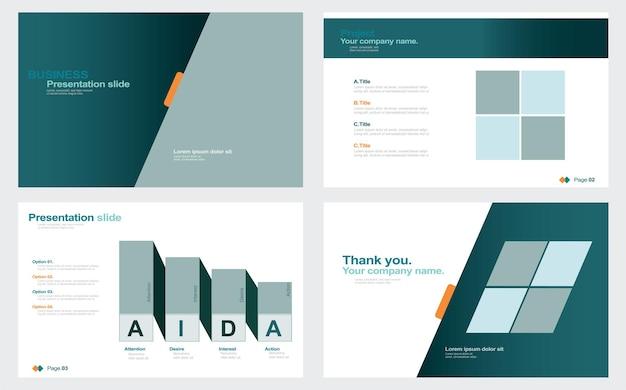 Modèle d'arrière-plan de présentation de diapositives minimales d'entreprise modèle de présentation d'entreprise