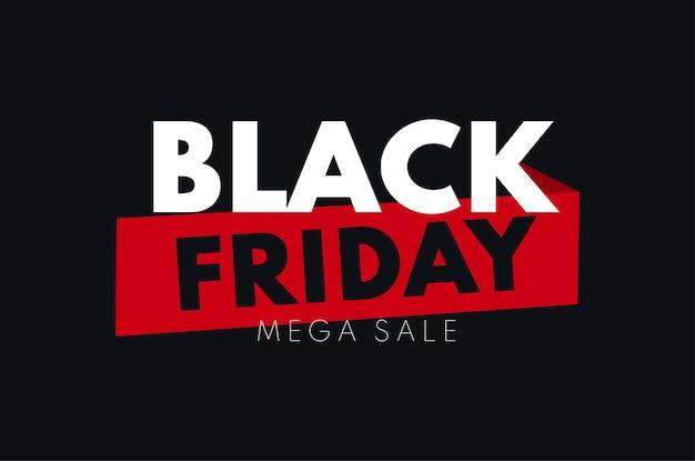 Modèle d'arrière-plan de vente de vecteur de bannière de vente de vendredi noir pour la publicité de promotion et les annonces sociales