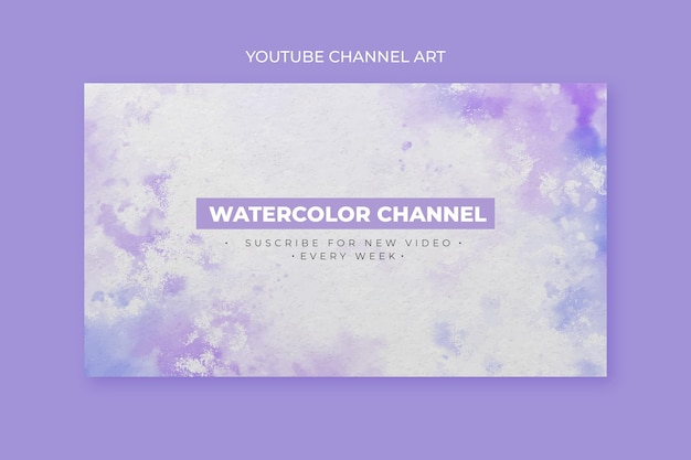 Modèle d'art de chaîne youtube aquarelle abstraite
