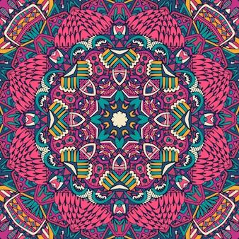 Modèle d'art zentangle coloré