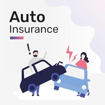 Modèle d'assurance automobile pour publication sur les réseaux sociaux