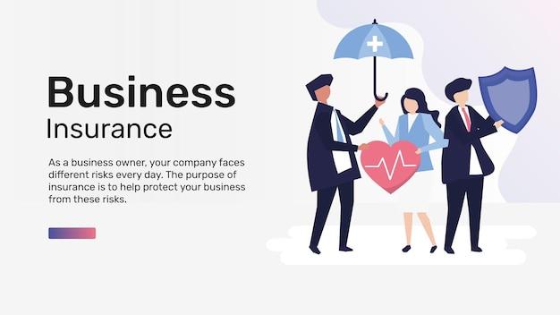 Modèle d'assurance entreprise pour bannière de blog
