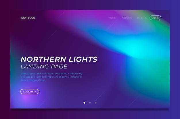 Modèle d'atterrissage des aurores boréales