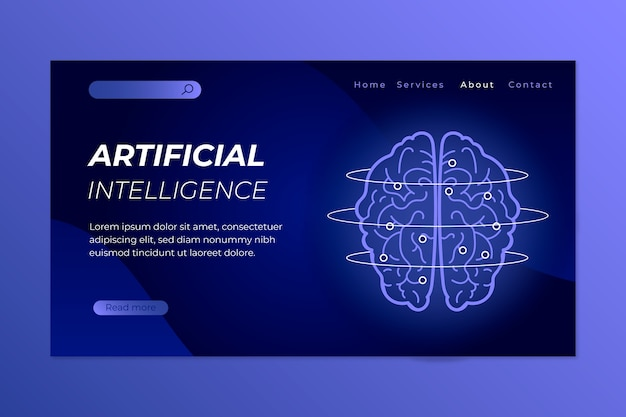 Modèle d'atterrissage d'intelligence artificielle