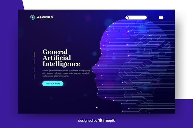 Modèle d'atterrissage d'intelligence artificielle