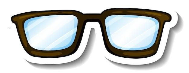 Un modèle d'autocollant avec des lunettes de vue