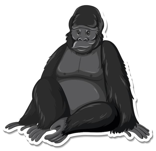 Un modèle d'autocollant de personnage de dessin animé de singe
