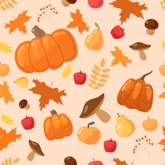 Modèle d'automne avec des feuilles qui tombent