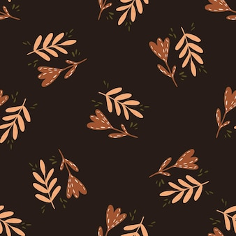 Modèle d'automne sans couture avec fleurs et branches décoratives
