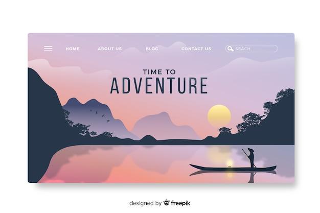 Modèle d'aventure de page de destination
