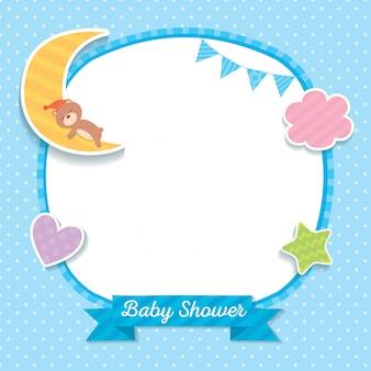 Modèle de baby shower bleu