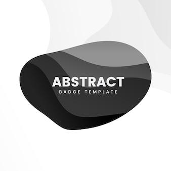 Modèle de badge abstrait en noir