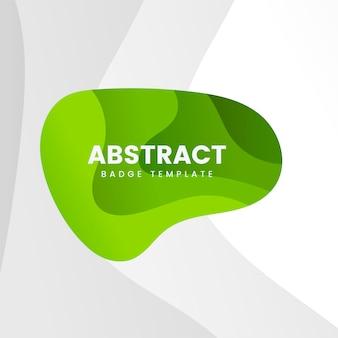 Modèle de badge abstrait en vert