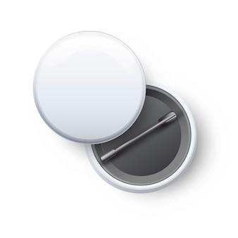Modèle de badge blanc