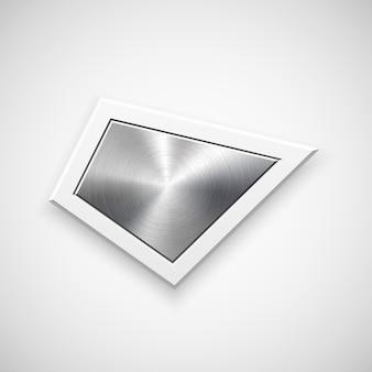 Modèle de badge géométrique abstrait
