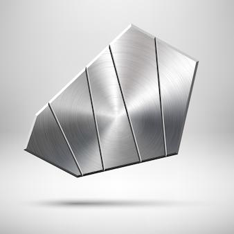 Modèle de badge géométrique en métal