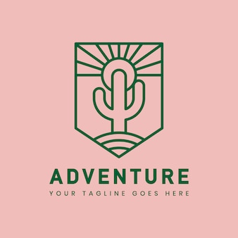 Modèle de badge logo aventure en plein air