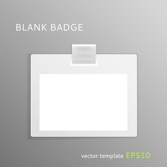 Modèle de badge vierge