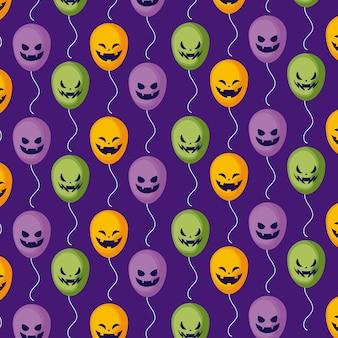 Modèle ballons à l'hélium d'halloween
