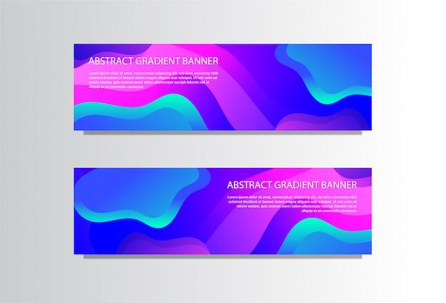 Modèle de bannière abstraite avec des formes en dégradé