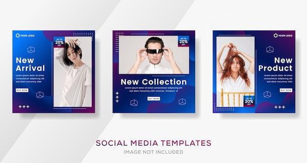 Modèle de bannière abstraite pour la publication de médias sociaux de mode vente.