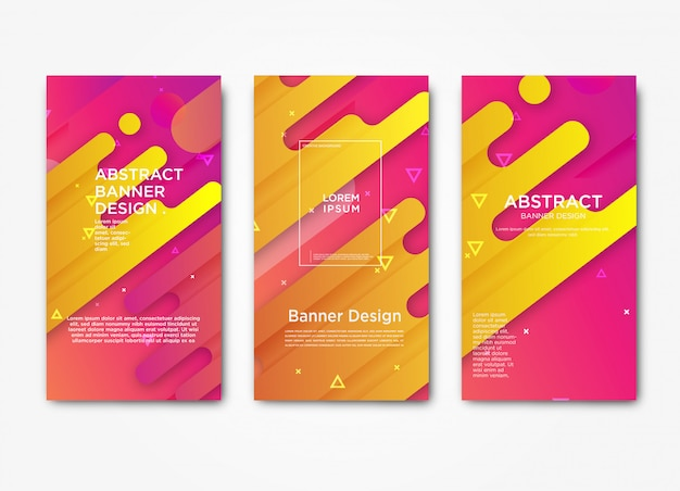 Modèle de bannière abstraite web moderne horizontale avec dégradé