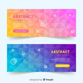 Modèle de bannière abstraite