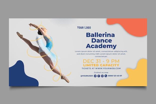 Modèle de bannière d'académie de danse