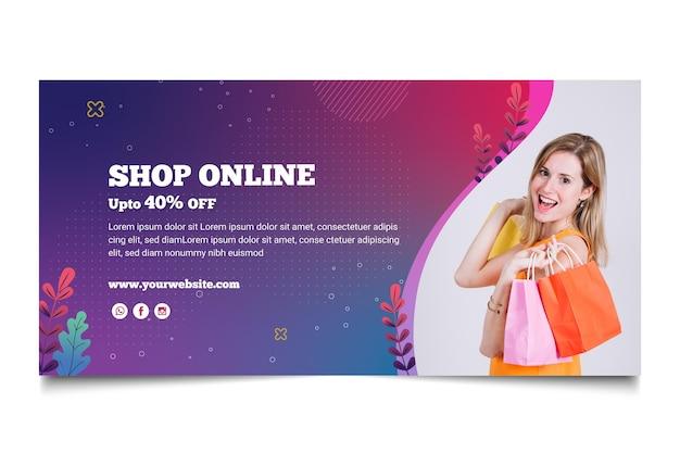 Modèle de bannière d'achat en ligne