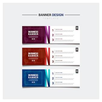 Modèle de bannière d'affaires coloré