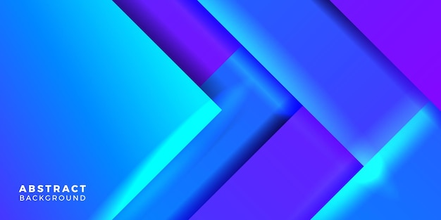 Modèle de bannière d'affiche de couverture de concept de dégradé abstrait bleu géométrique dynamique moderne pour la technologie futuriste