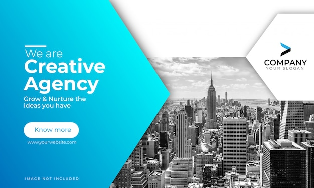 Modèle de bannière d'agence créative numérique