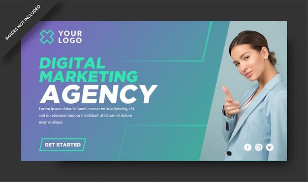 Modèle de bannière d'agence de marketing numérique