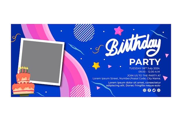 Modèle de bannière d'anniversaire