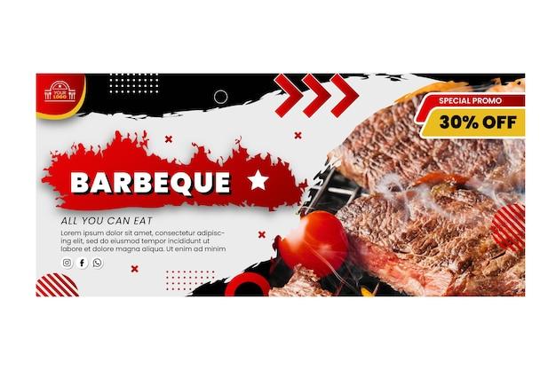 Modèle de bannière barbecue