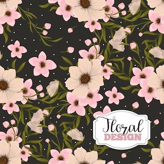 Modèle de bannière. belles fleurs. carte de voeux. cadre.