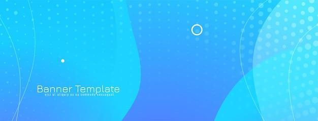 Modèle de bannière bleu clair élégant