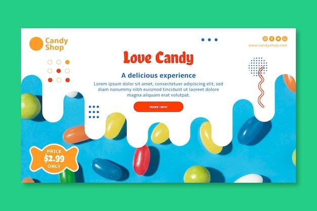 Modèle de bannière de bonbons d'amour