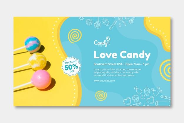 Modèle de bannière de bonbons