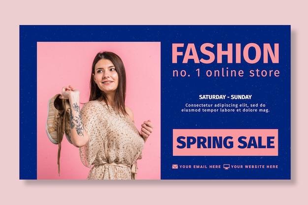 Modèle de bannière de boutique en ligne