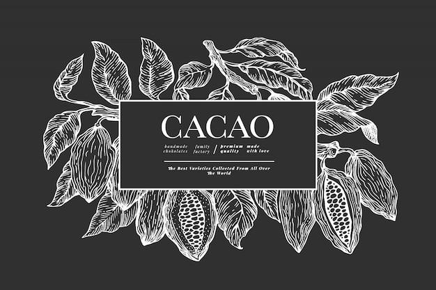 Modèle de bannière de cacao.