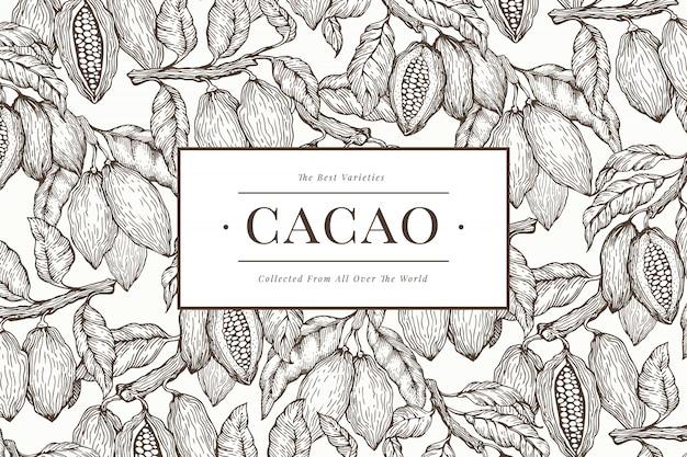Modèle de bannière de cacao