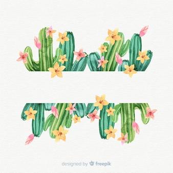 Modèle de bannière de cactus