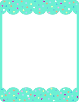 Modèle de bannière de cadre de boucle verte vide