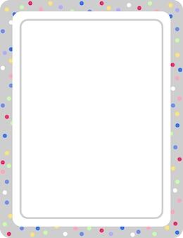 Modèle de bannière de cadre vertical gris vide