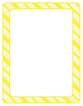 Modèle de bannière de cadre vide rayures diagonales